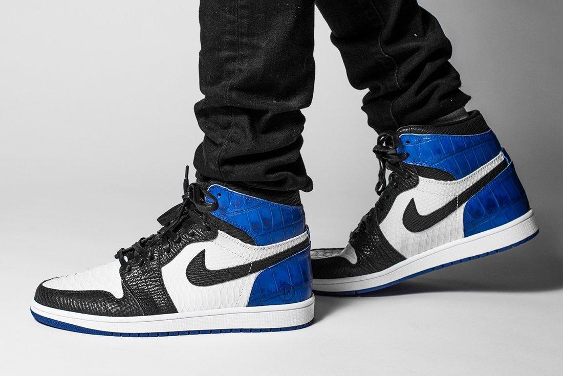 Bespoke Fragment X Air Jordan 1S By The Shoe Surgeon