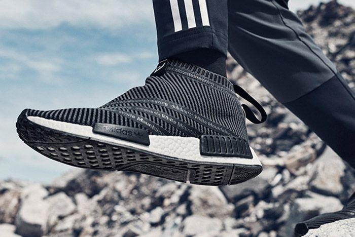 White Mountaneering Adidas Wm Nmd City Sock Black On Feet 1