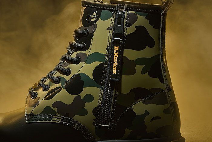 Bape Dr Martens 1460 Remastered Medial Side Shot