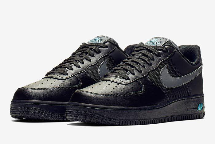 Nike Air Force 1 Black Blue 3