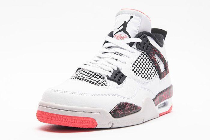 Air Jordan 4 Retro White Black Bright Crimson Pale Citron 2