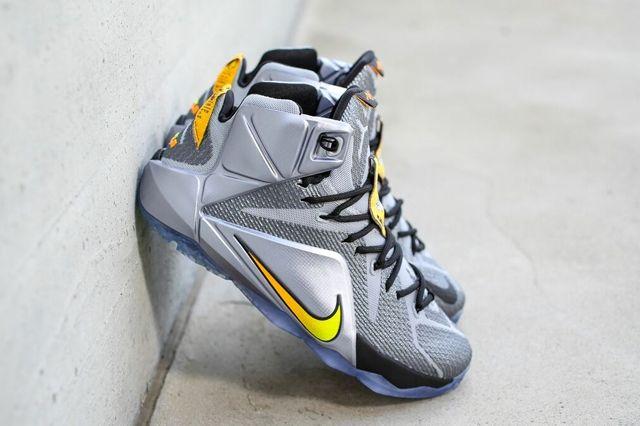 Nike Le Bron 12 Wolf Grey Bright Citrus 5