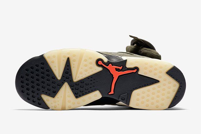 Air Jordan 6 Travis Scott Gs Sole