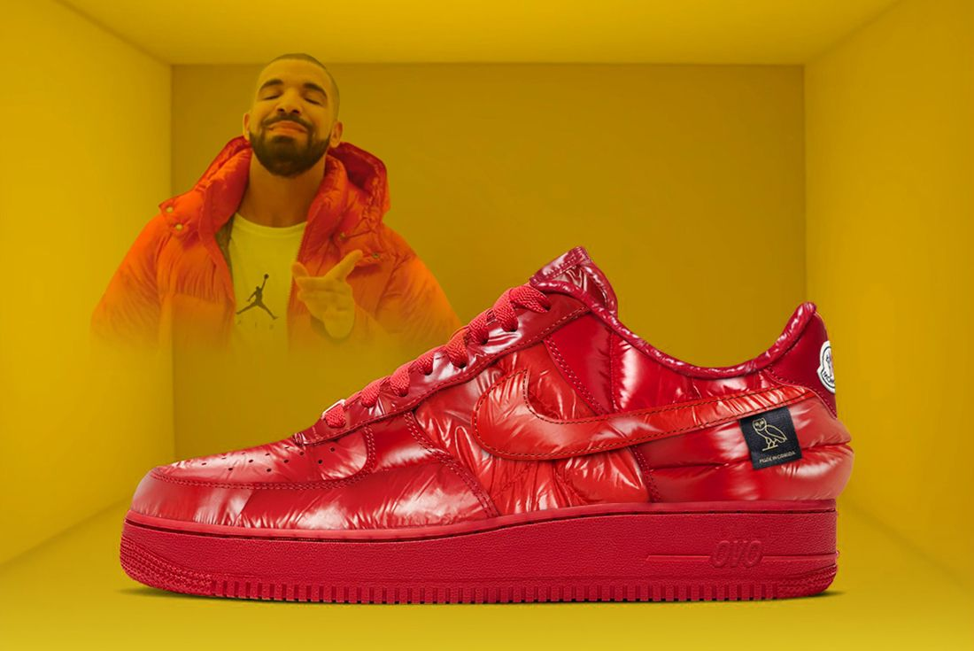 Drake Air Force 1 Moncler