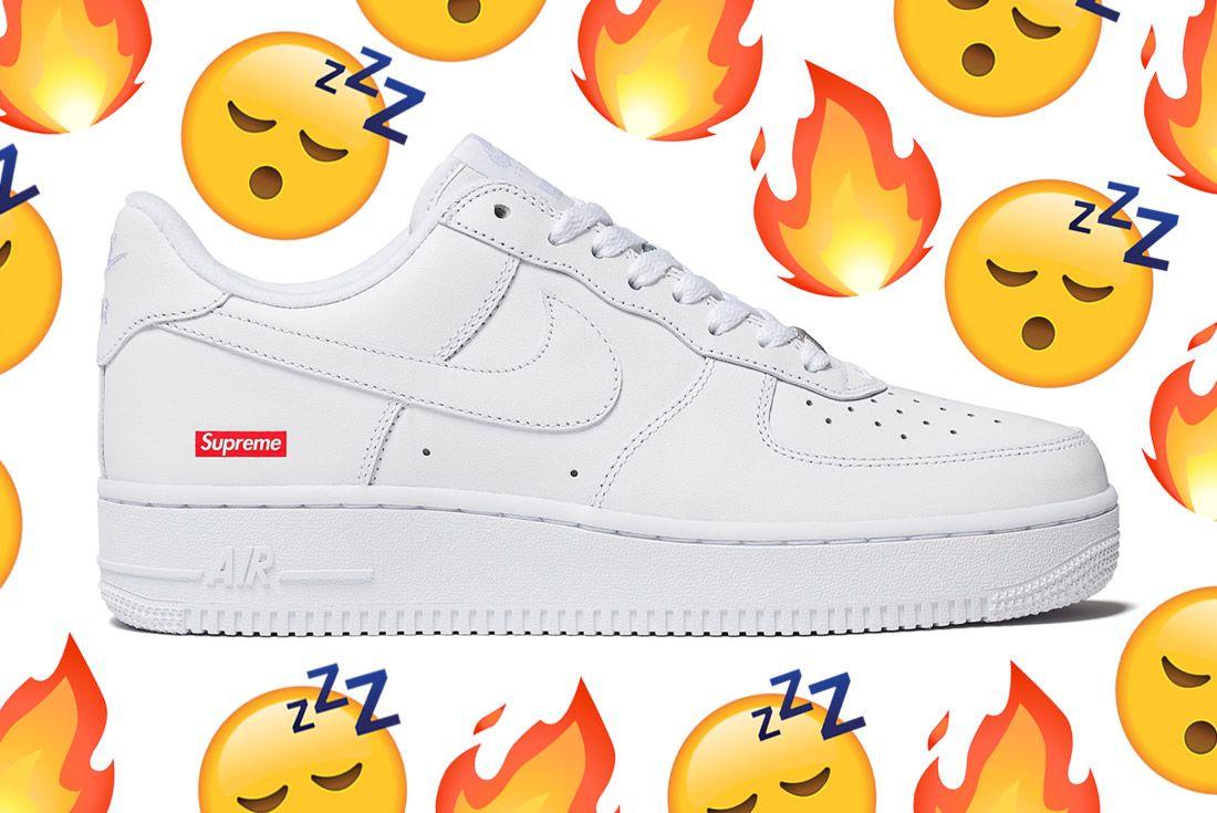 Supreme X Nike Air Force 1 Versus Sneaker Freaker