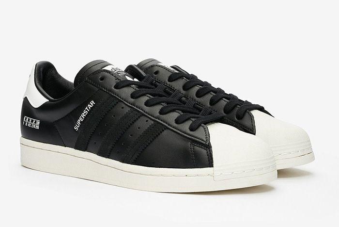Adidas Superstar Misplaced Size Tag Black Fv2809 Black Front Angle