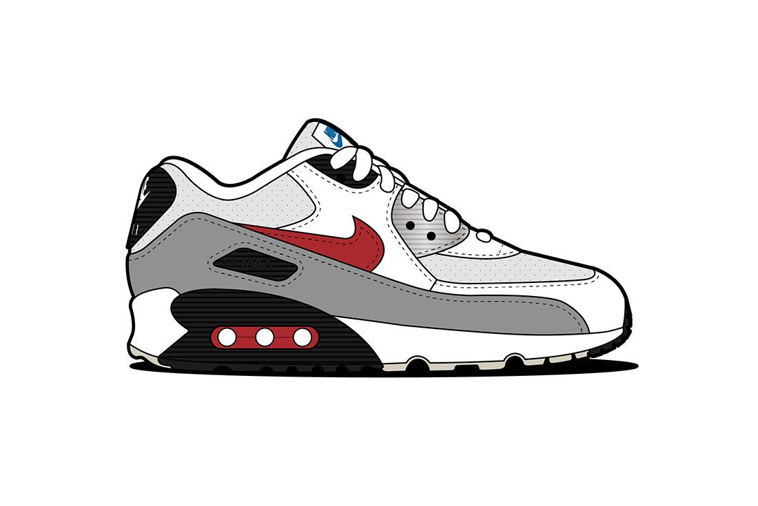 Air Max 90 10 Silver Surfer