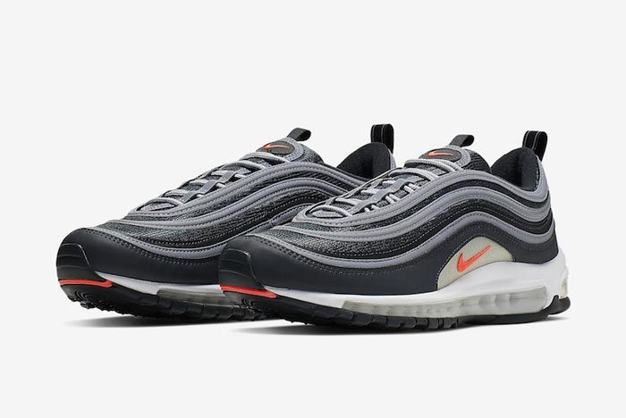 Nike Air Max 97 Anthracite Crimson Pair