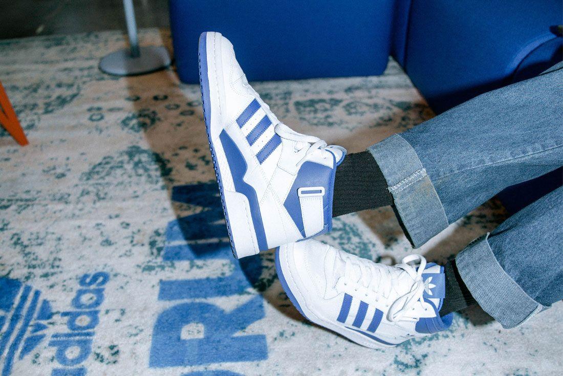 adidas Forum White Blue On Foot