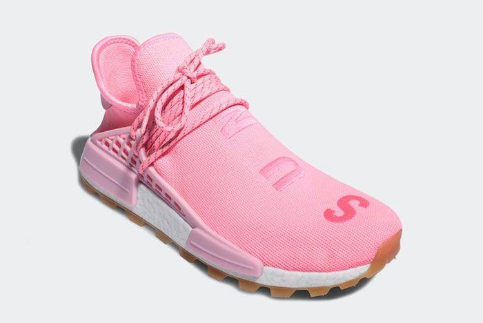 Pharell Adidas Hu Nmd Pink Front Side