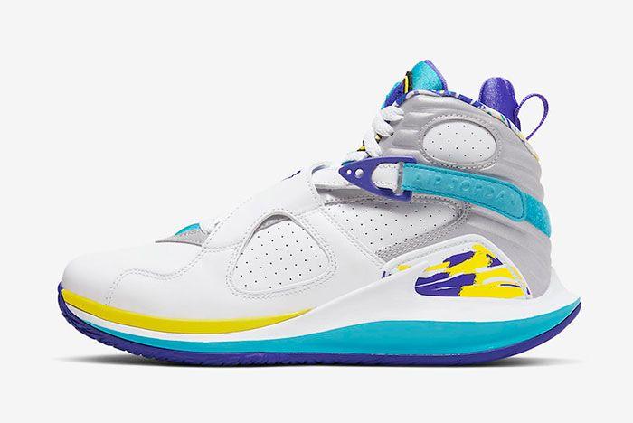 Nike Court Zoom Zero Jordan 8 Aqua Cq4481 100 Lateral