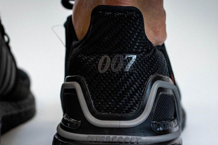 James Bond 007 Adidas Ultra Boost On Foot Close Up Heel Shot