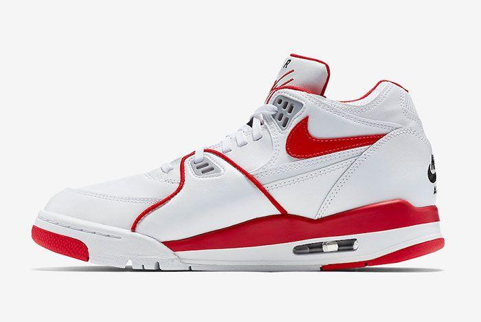 Nike Air Flight 89 White University Red 819665 100 Medial