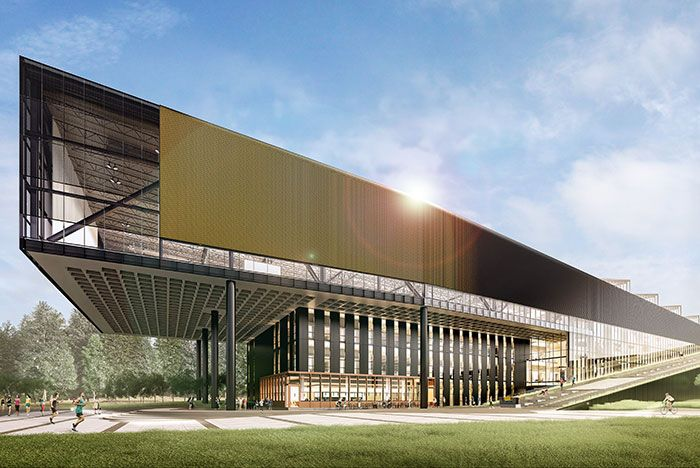 Nike Innovation Building Mockup