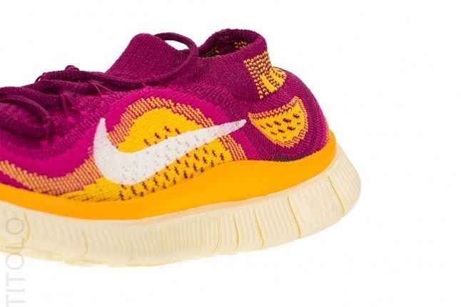 Nike Free Flyknit Free Berry Laser Orange 2