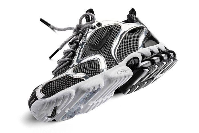 Stussy Nike Spiridon Caged Black White Close Up