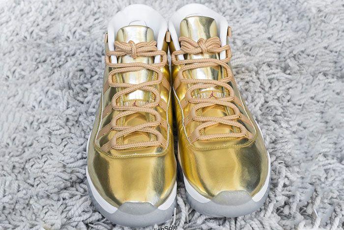 Air Jordan 11 Ovo Metallic Gold Sample 3 Ig Leak