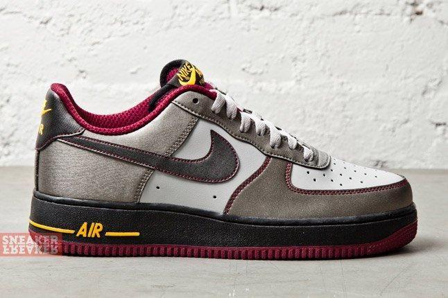 Nike Air Force 1 Dusty Grey Metallic Pewter Cherry 1