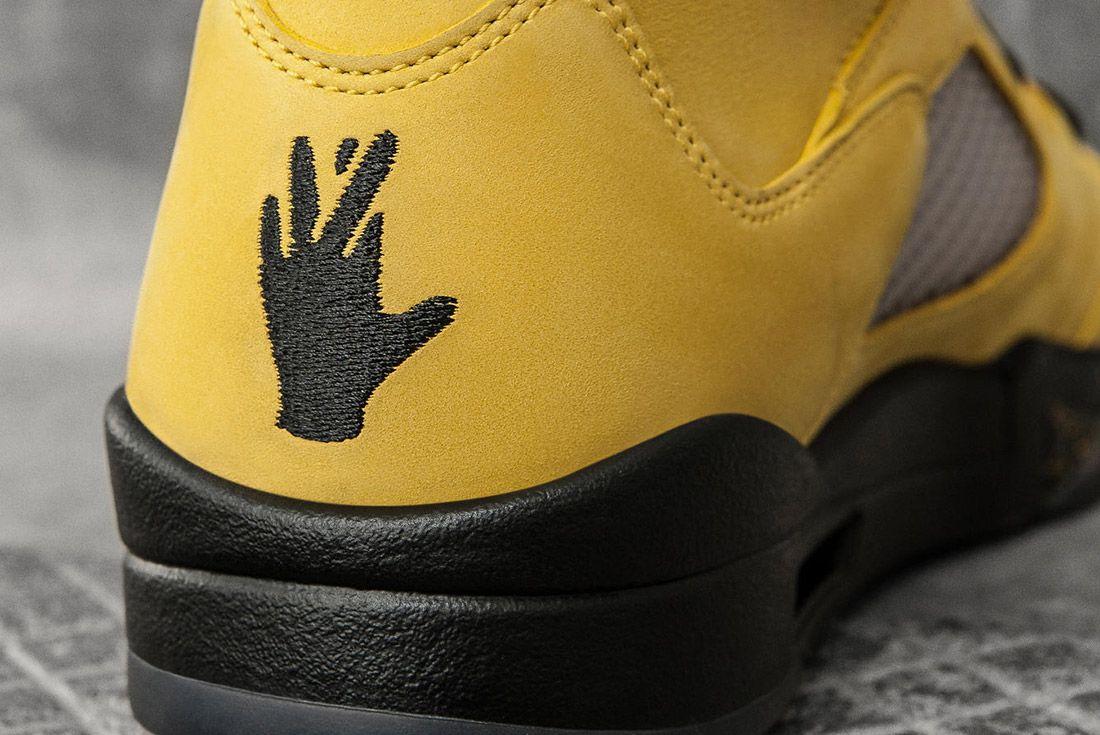Air Jordan 5 Fab Five Yellow Black 3