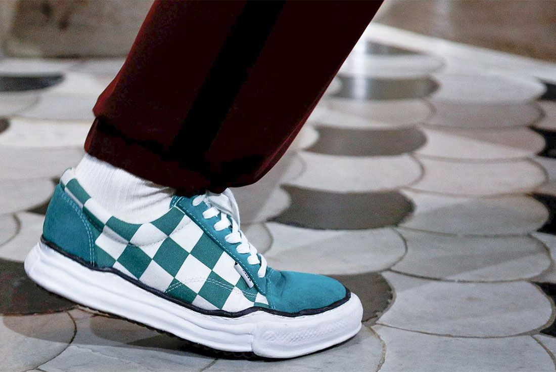 Mihara Yasuhiro Original Sole Sneaker Vans Checkerboard Side Shot Ss19 Fashion Week 1