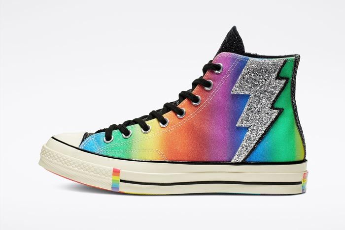 Chuck 70 Pride High Top Black Lateral