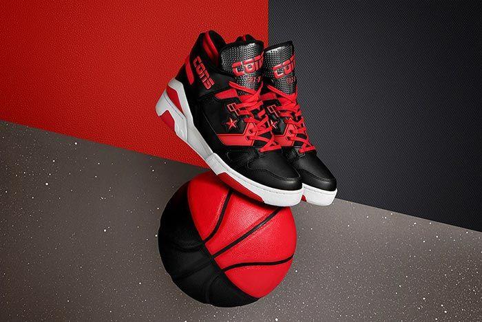 Converse Erx 260 Mid Red Black Three Quarter Basketball Shot