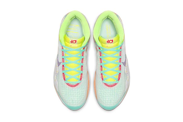 Nike Kd 12 Eybl Teal Tint Red Orbit Photo Blue Ck1195 300 Release Date Top Down