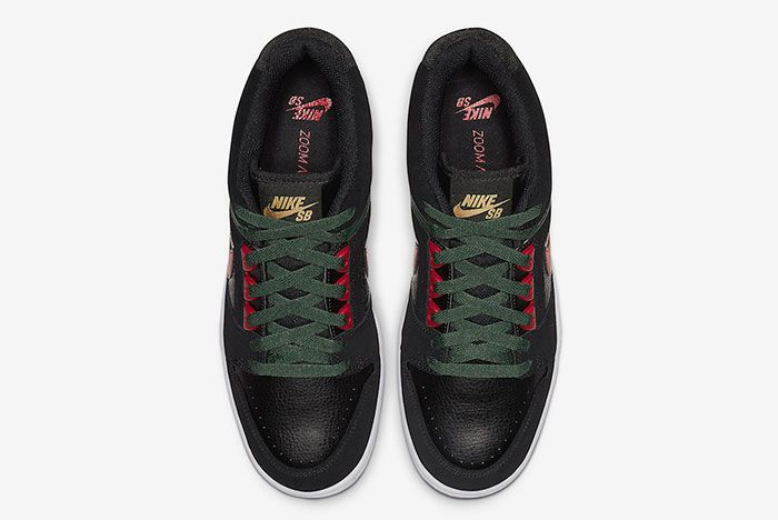 Nike Sb Air Force 2 Low Black Deep Forest Gym Red Ao0300 002 Top