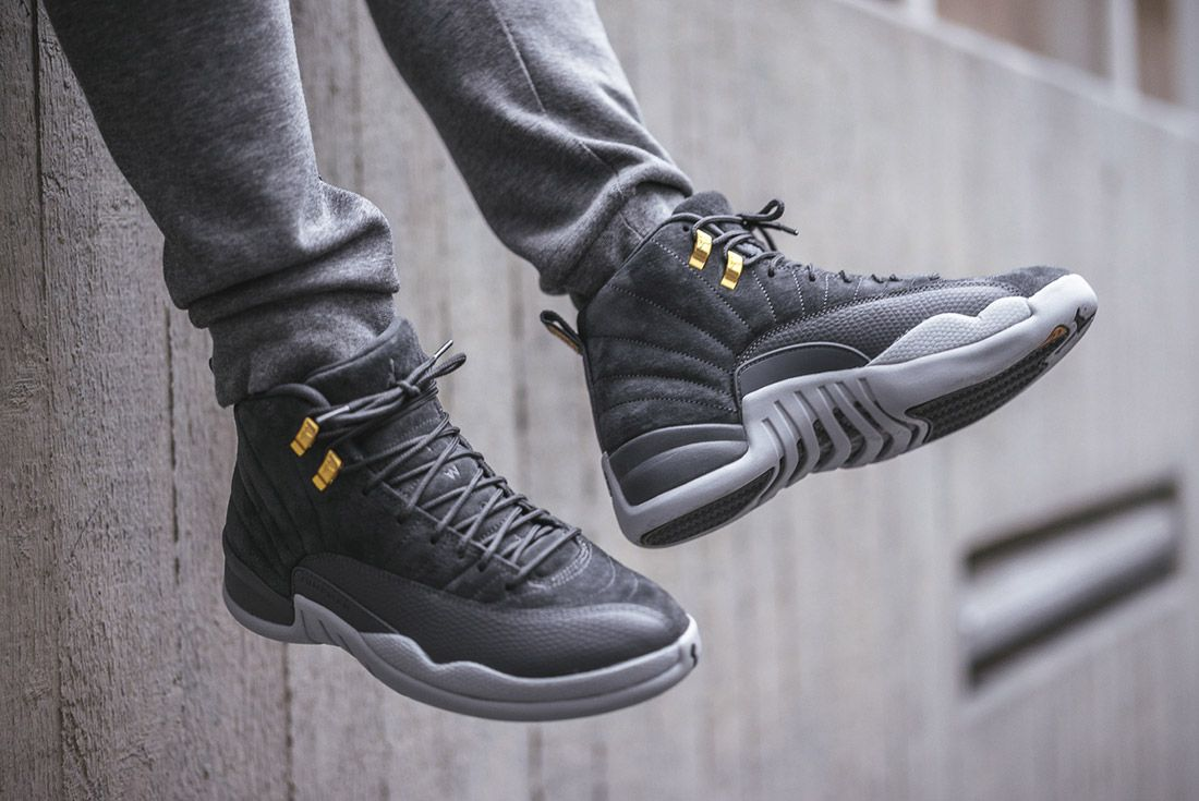 On Foot Air Jordan 12 Dark Grey3