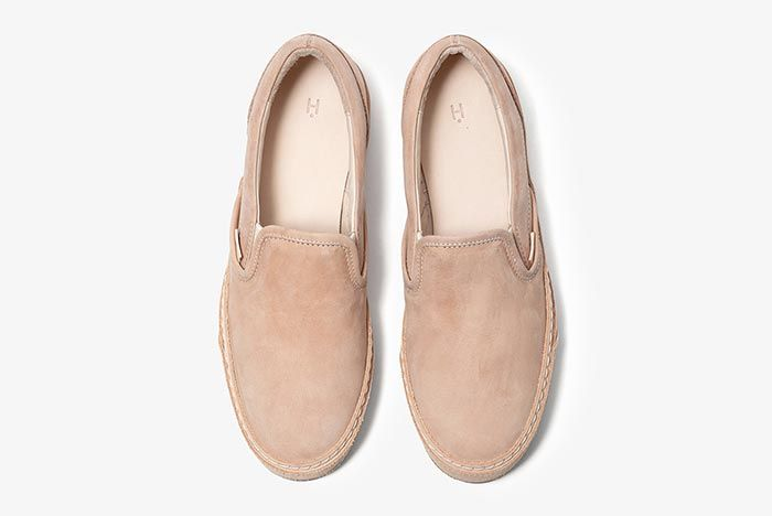 Hender Scheme Vans Slip On Beige Above Shot