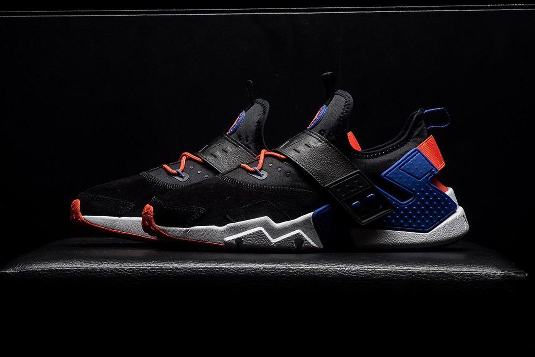 Nike Air Huarache Drift Premium Black Rush Violet Rush Orange Ah7335 002 Sneaker Freaker 1