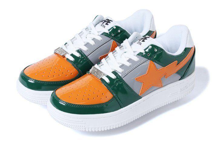 Bape Sta Low Green Orange