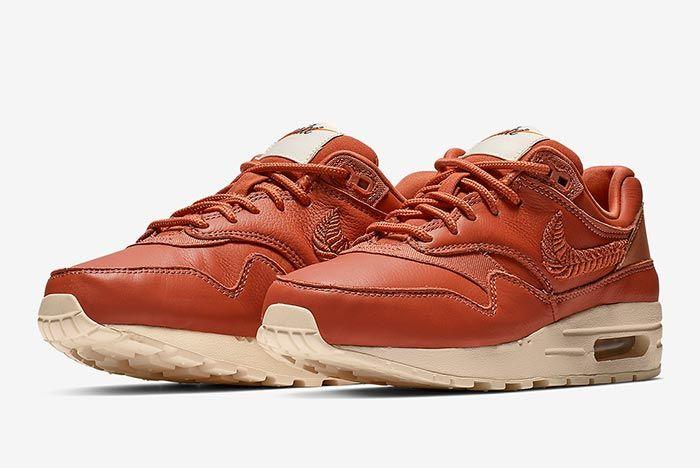 Nike Air Max 1 Premium Brown Embroidered Pair