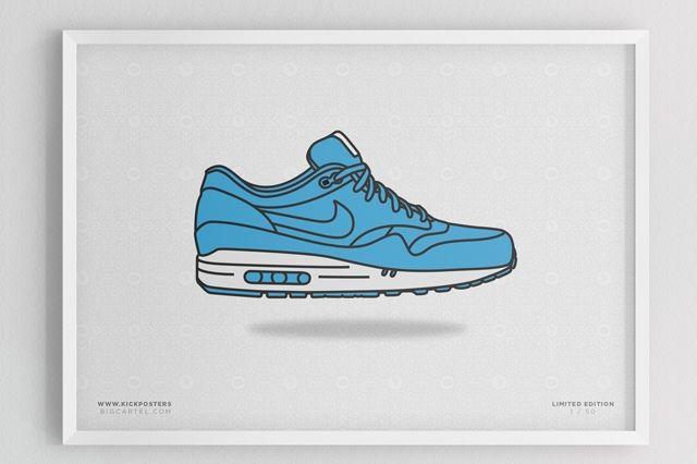 Sneaker Prints Air Max 1 Blue