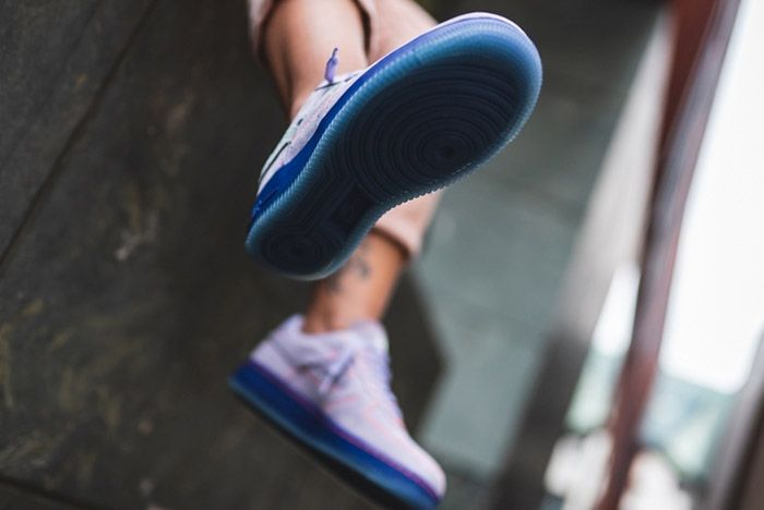 Nike Air Force 1 07 Lux Purple Agate Ct7358 500 On Foot Sole Detail