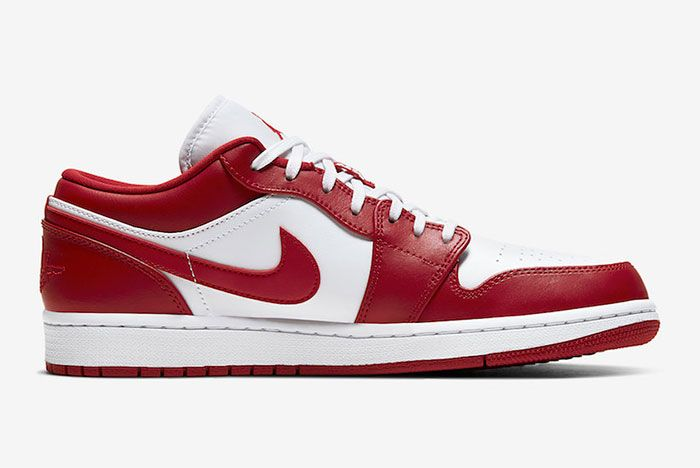Air Jordan 1 Low Gym Red White 553558 611 Release Date Price 2Official