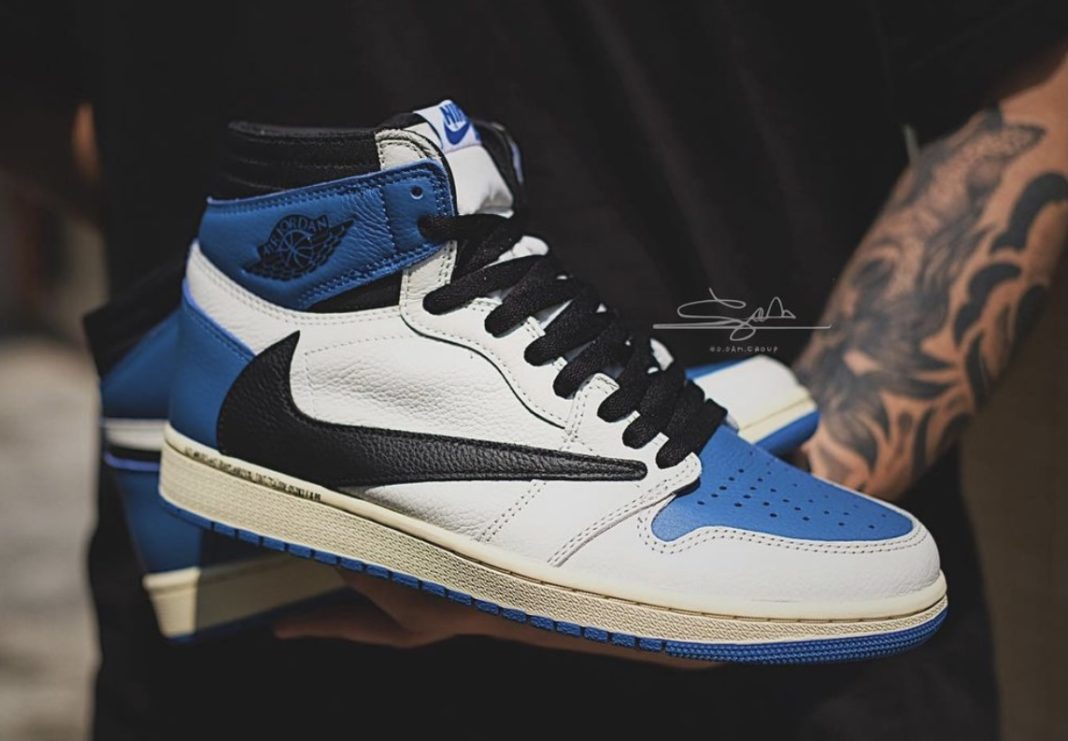 Travis Scott x Fragment x Air Jordan 1 leaked images