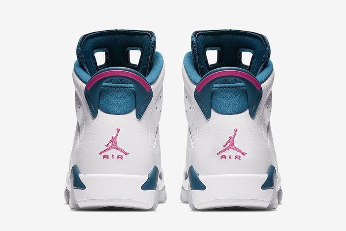 Air Jordan 6 Kids Green Abyss Laser Fuchsia Heels