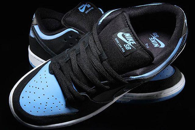 Nike Sb Dunk Low Pro Black University Blue White Available Now 2