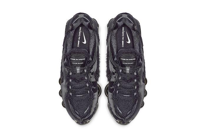 Comme Des Garcons Nike Shox Tl Black Cj0546 001 Release Date Top Down