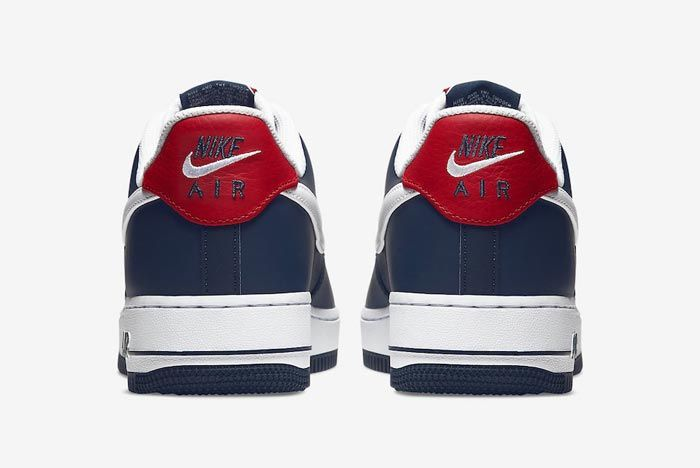 Nike Air Force 1 Blue White Red Heels