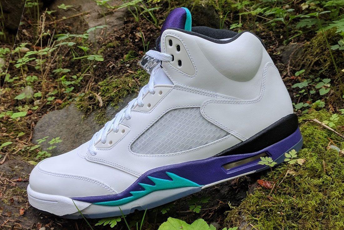 Nike Air Jordan 5 Grape Left