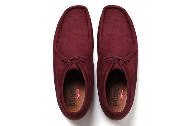 Supreme X Clarks Wallabee Boot Burgundy Top 1