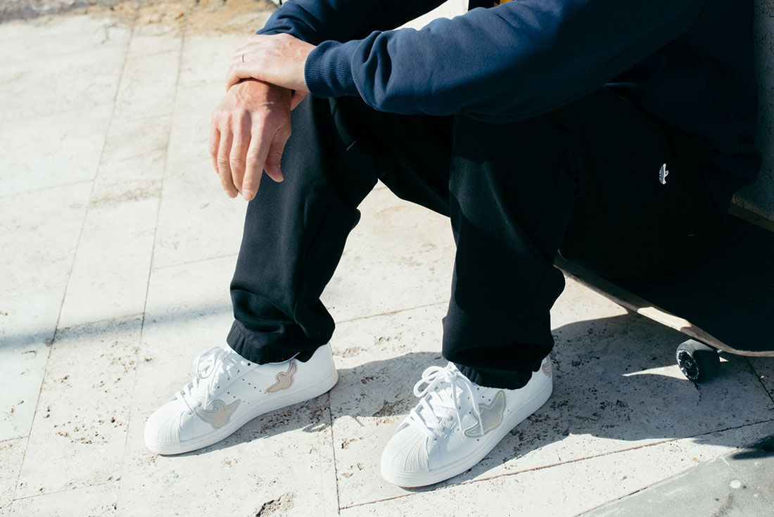 adidas Skateboarding Superstar by Mark Gonzales On Foot