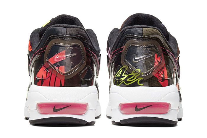 Atmos Nike Air Max 2 Light Black Heel