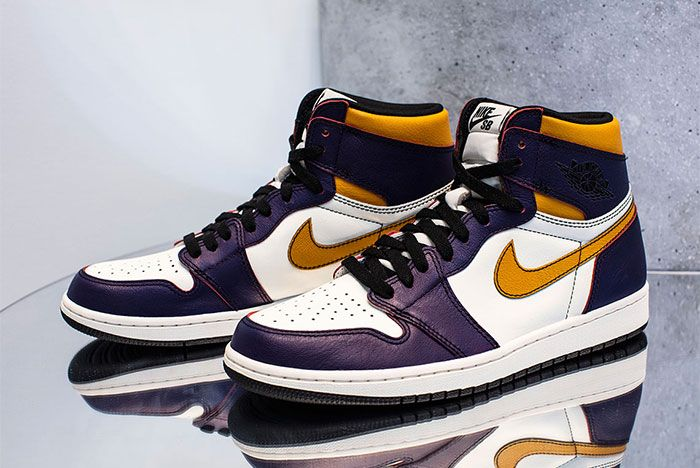 Nike Sb Air Jordan 1 Lakers Left 3