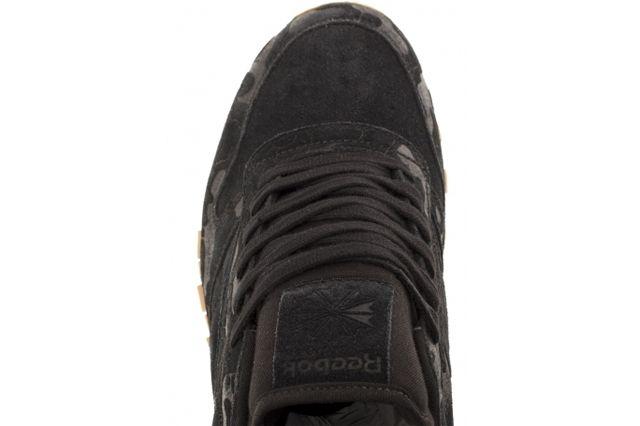 Reebok Classic Leather Embossed Camo Black Angle