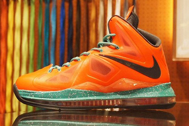 Nike Lebron X Id Orange 1