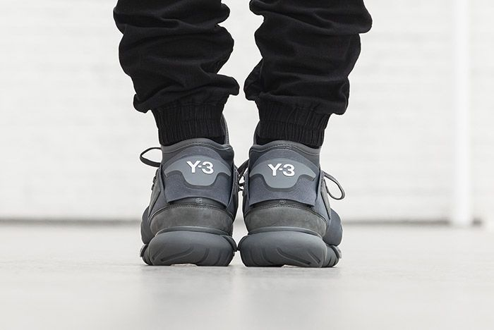 Adidas Y 3 Qasa High Vista Grey On Foot 4