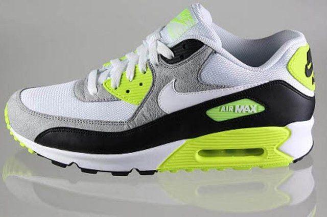 Nike Air Max 90 Black White Medium Grey Volt 1